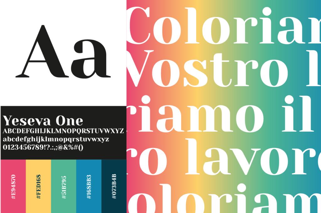 font e colori Cristal Color srl
